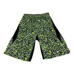 Nike Black/Green Dri-fit Basketball Shorts Size L
